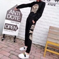 """Boy London"" Women Fashion Casual Letter Pattern Print Sweater Long Sleeve Trousers Set Two-Piece Sportswear"