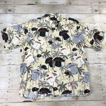 Reyn Spooner San Francisco Giants Rayon Hawaiian Shirt Mens Size Large