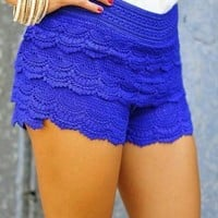 HOT CAKE STYLE  LACE SHORTS SKIRT