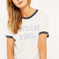 Truly Madly Deeply - T-shirt Portland à bords contrastants - Urban Outfitters