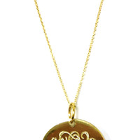 Monogrammed Taylor Necklace | Necklaces | Marley Lilly
