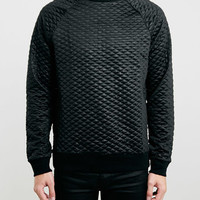 Black Technical Quilted Sweatshirt - New In