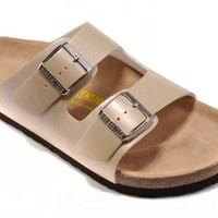 Birkenstock Arizona Sandals Leather Bisque