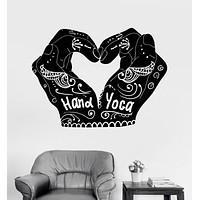 Vinyl Wall Decal Hand Yoga Mehndi India Love Room Decoration Stickers Unique Gift (ig3530)