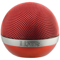 Ihome Portable Rechargeable Bluetooth Speaker (red)