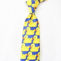 The Big 8 cm Yellow Rubber Ducky Ties For Men Same Style From How I Met Your Mother Barney's Neck tie Brand Gravata Cravat