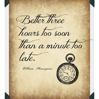 William Shakespeare Quote, Printable Picture, Download Poster, Wall Art, Home Decor, Inspirational, Motivational, Famous Person Quote