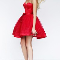 2015 Amazing Short Red Tailor Made Cocktail Prom Dress (LFNBF0000) cheap online-MarieProm UK