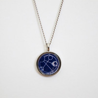 Doctor Who Gallifreyan Necklace - Allons-y