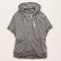 Aerie Supersoft Knit Poncho , Shell Grey   Aerie for American Eagle