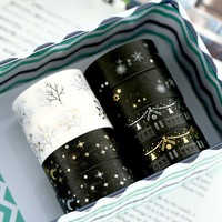 Christmas Gift Black & White Washi Tape Lot Masking Tape Post It Japanese New Stickers 2017 Kawaii Stationery School Supplies