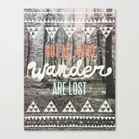Wander Stretched Canvas by Wesley Bird