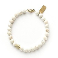 Tess and Tricia White Turquoise Accent Bracelet
