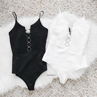 Off White Scuba Chain Link Bodysuit