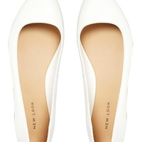 New Look Joinery White Flat Shoes