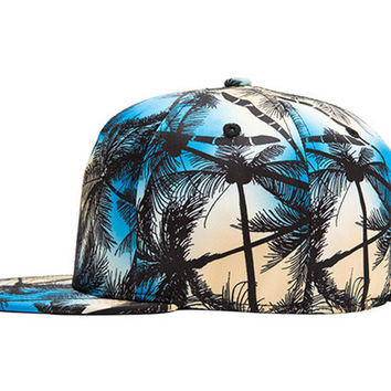 Polyester Coconut Trees Pattern 3D Printing Hip Hop Cap