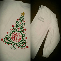 Happy holidays - Christmas T-shirt -  Monogram