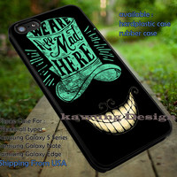 Alice in Wonderland We are All Mad Here iPhone 6s 6 6s+ 5c 5s Cases Samsung Galaxy s5 s6 Edge+ NOTE 5 4 3 #cartoon #anime #alice dt