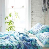 Magical Thinking Dhara Medallion Duvet Cover- Turquoise Full/queen