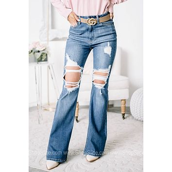 Always What You Need High Rise Flared Jeans