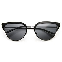 Elegant Laser Cut Womens Modern Cat Eye Fashion Sunglasses 9464