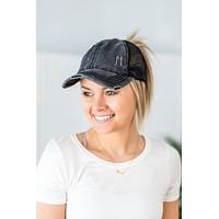 C.C. Distressed Pony Hat