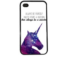 Unicorn Case / Galaxy iPhone 4 Case Funny iPhone 5 Case iPhone 4S Case iPhone 5S Case Animal Cute Quote Horse Phone Case