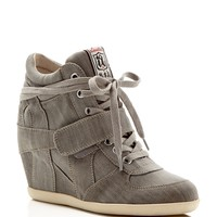 AshBowie Lace Up High Top Wedge Sneakers