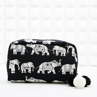 Elephant Make-Up Case in Black - Urban Outfitters