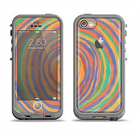 The Hand-Painted Circle Strokes Apple iPhone 5c LifeProof Fre Case Skin Set