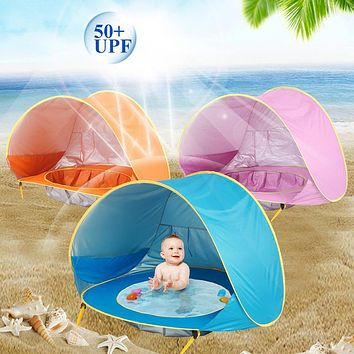 Summer Seaside Baby Beach Tent Pops Up Portable Shade Pool UV Protection Sun Shelter Kids Outdoor Camping Sunshade Beach Toy