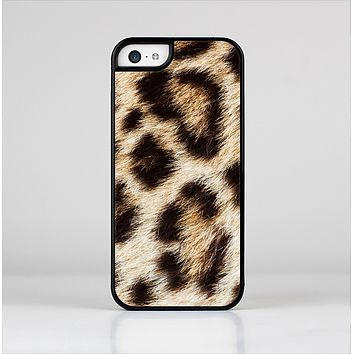 The Leopard Furry Animal Hide Skin-Sert Case for the Apple iPhone 5c