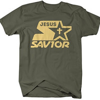 Shirts By Sarah Men's Religious Jesus Savior Parody T-Shirt Funny Shirts