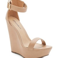 Vivi 01 Buckled Two Strap Wedge