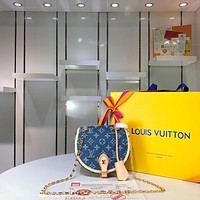 Kuyou Gb29810 Lv Louis Vuitton M51180 Monogram Denim Canvas Cross Body Bag 18x19x8cm