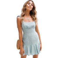 Sexy Women Flounced Sling Dress