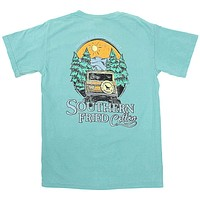 Mountain Calling Tee Shirt in Seafoam by Southern Fried Cotton