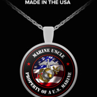 Military - Marine Uncle - Property of a U.S. Marine - Necklace