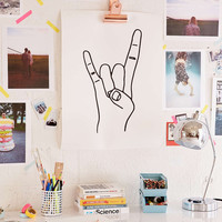 Cult Paper Rock On Art Print - Urban Outfitters