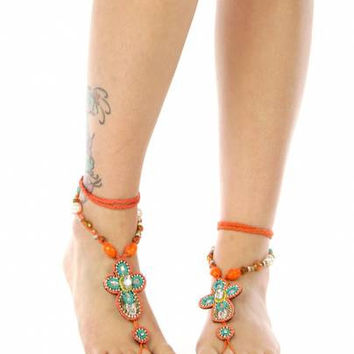 BEACH WEDDING JEWELRY Bellydancing Festival wear Summer fashion Beach outfit Anklet Vintage Tribal hippy hippi boho gift for her