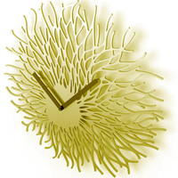 Free Flowing Series Wall Clock, Powder-Coated Steel by Tord Boontje for the Botanist - Pure Modern Design Contemporary Timepieces