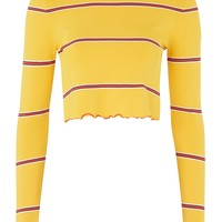 **Margot Long Sleeve Crop Top by Unique | Topshop