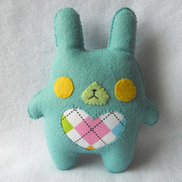 Blue Chubby Bunny Plush by Michelle Coffee