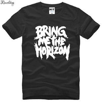Summer Bring Me The Horizon T Shirts Men Cotton Short Sleeve Metal Rock Letter Printed Men's T Shirt Fashion Rock Music Top Tees|T-Shirts