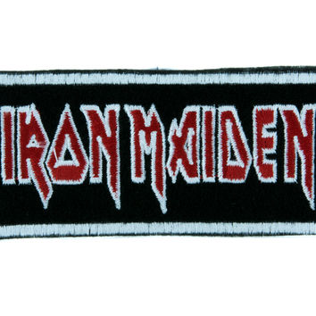 Iron Maiden Patch Iron on Applique Heavy Metal Band