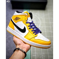 Air Jordan 1 Mid street fashion men and women high-top sneakers #9