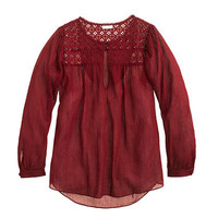 Embroidered gauze top - shirts & tops - Women's new arrivals - J.Crew