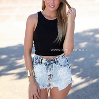 OH YEAH TOP , DRESSES, TOPS, BOTTOMS, JACKETS & JUMPERS, ACCESSORIES, 50% OFF SALE, PRE ORDER, NEW ARRIVALS, PLAYSUIT, COLOUR, GIFT VOUCHER,,CUT OUT,SLEEVELESS,Black,MINI Australia, Queensland, Brisbane