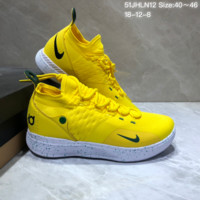 DCCK N681 Nike Zoom KD11 Mid XI Men Actual Baketball Shoes Yellow