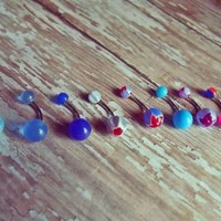 Belly Ring Set - Assorted Cool Colors from Ever